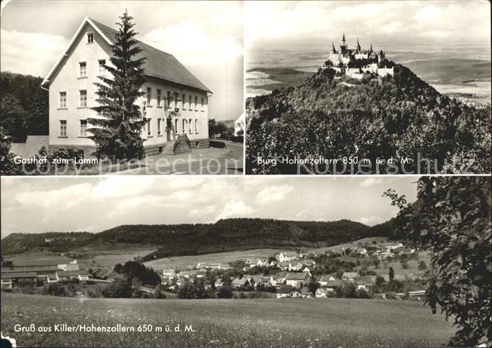 Killer Gasthof zum Lamm Burg Hohenzollern Totalansicht Kat. Burladingen