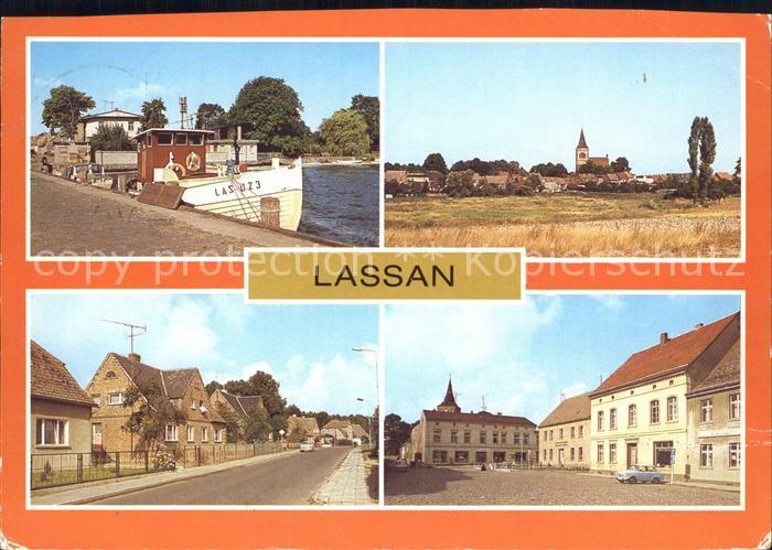 Lassan Hafen Wolgaster Strasse Markt Kat. Lassan Vorpommern