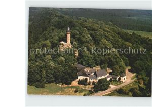 Kempfeld Wildenburg  Gaststaette Fliegeraufnahme Kat. Kempfeld