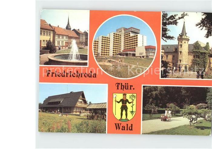 Friedrichroda Platz der Jungen Pioniere Puschkin  Park Schloss Reinhardsbrunn Kat. Friedrichroda