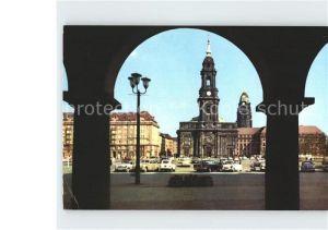 Dresden Arkaden Altmarkt Kreuzkirche Kat. Dresden Elbe