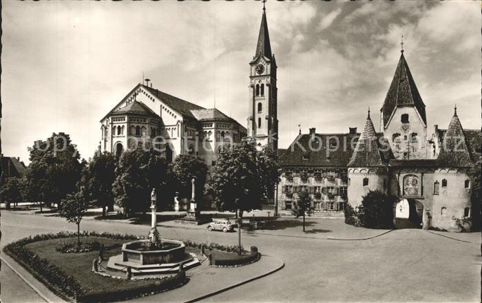 Weissenhorn Marktplatz Pfarrkirche Kat. Weissenhorn