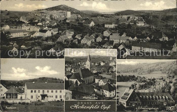 Hohenfels Oberpfalz Erholungsheim Postamt Pfarrkirche Kat. Hohenfels