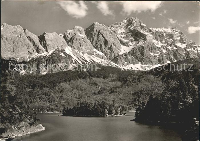 Eibsee Eibsee mit Zugspitze Kat. Grainau