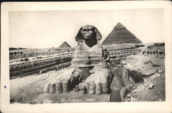 Cairo Egypt Sphinx Temple Chephren Pyramide Kat. Cairo