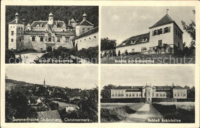 Stubenberg Steiermark Schloss Alt Schieleiten Herberstein  Kat. Stubenberg am See