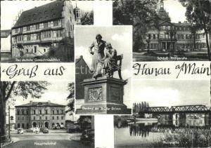 Hanau Main Schloss Philipsruhe deutsche Goldschmiedehaus Mainpartie Denkmal Brueder Grimm Hauptbahnhof  Kat. Hanau