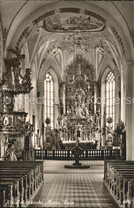 Maria Rain Kaernten Wallfahrtskirche Altar / Maria Rain /Klagenfurt-Villach