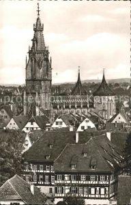 Reutlingen Ortsblick mit Marienkirche Kat. Reutlingen
