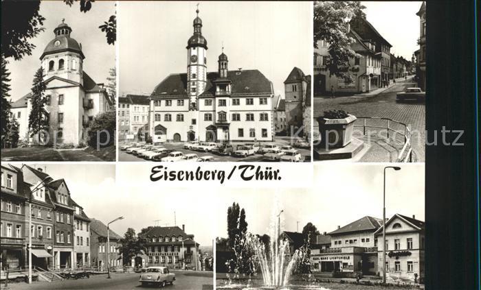 Eisenberg Thueringen Schlosskirche Rathaus Markt Steinweg Ernst Thaelmann Platz PdR Kat. Eisenberg