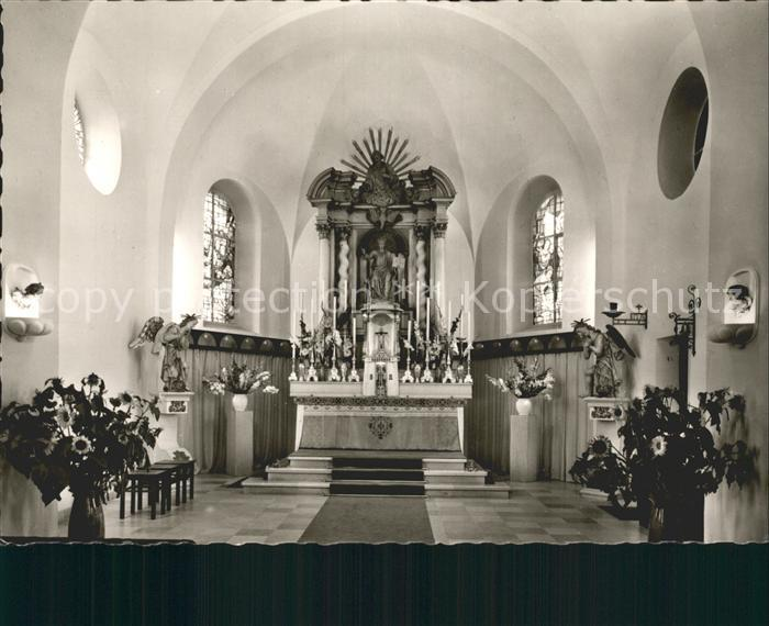 Ittenbach Pfarr und Wallfahrtskirche Inneres Kat. Koenigswinter