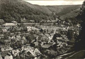 Schwarzburg Thueringer Wald Totalansicht Kat. Schwarzburg