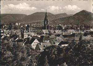 Reutlingen Marienkirche mit Gartentor Goergenberg Schoenberg und Wackerstein Kat. Reutlingen