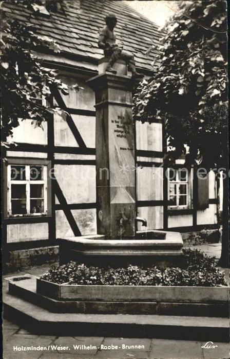 Holzminden Weser Wilhelm Raabe Brunnen Kat. Holzminden
