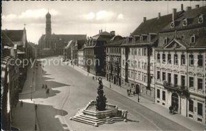 Augsburg Maximilianstr mit Herkulesbrunnen und St Ulrich Kat. Augsburg