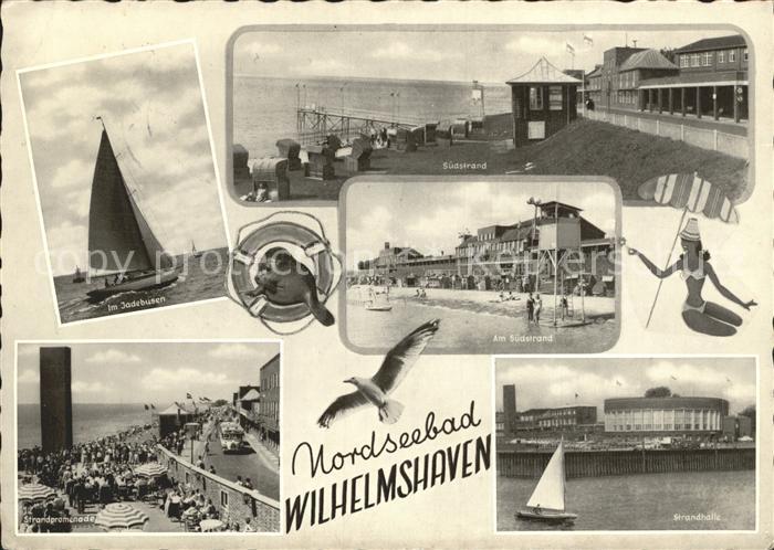 Wilhelmshaven Am Jadebusen Suedstrand Strandpromenade Strandhalle Kat. Wilhelmshaven