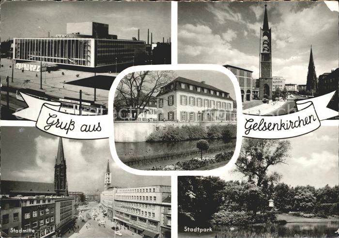 Gelsenkirchen Stadthalle Kirche Stadtmitte Stadtpark Kat. Gelsenkirchen