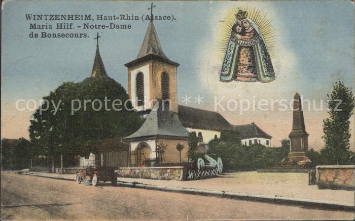 Wintzenheim Colmar Maria Hilf Notre Dame de Bonsecours Kat. Wintzenheim