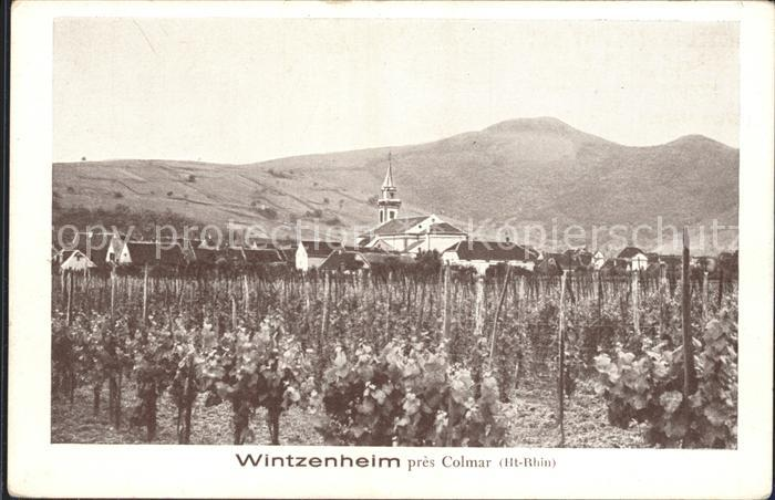 Wintzenheim Colmar Ortsblick Kirche Kat. Wintzenheim