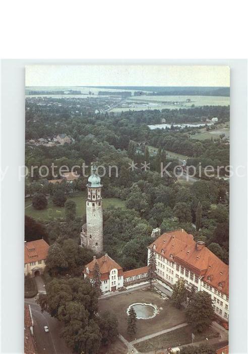 Arnstadt Ilm Schlossruine Neideck Neues Palais Fliegeraufnahme Kat. Arnstadt