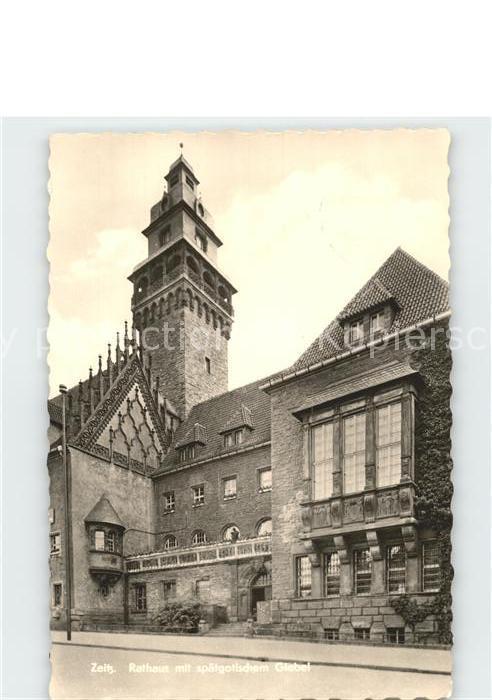 Zeitz Rathaus mit spaetgotischem Giebel Kat. Zeitz