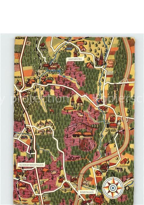 Karte Lüneburger Heide Und Umgebung.Wilsede Lueneburger Heide Burg Und Umgebung Original Fuchs Karten Serie 2 D Lueneburger Heide Bispingen Soltau Fallingbostel Lkr