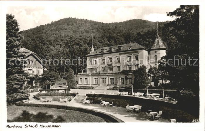 Badenweiler Kurhaus Schloss Hausbaden Kat. Badenweiler