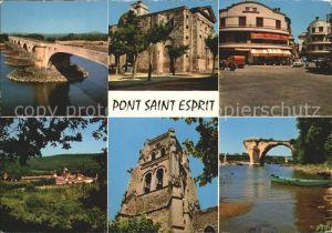 Pont Saint Esprit Le Pont L Eglise Saint Pierre La Place La Chartreuse Le Beffrai Le Vieux Pont sur Ardeche Kat. Pont Saint Esprit