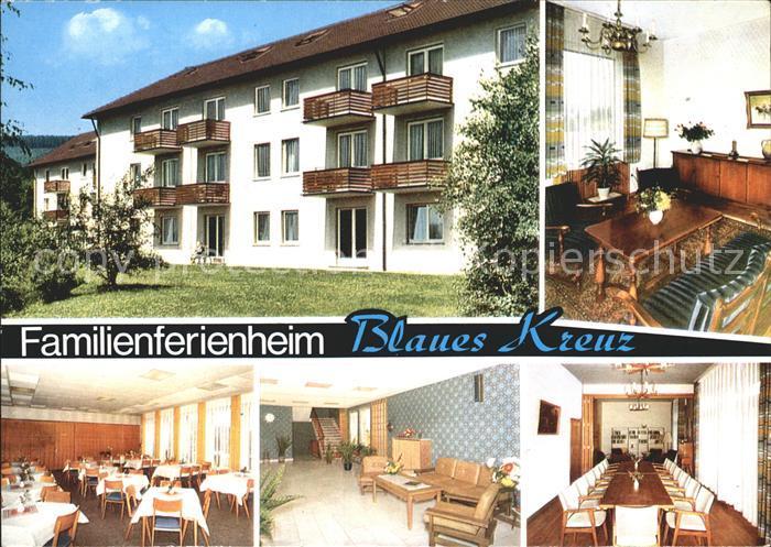 Burbach Familienferienheim des Blauen Kreuzes Speisesaal und Aufenthaltsraum Kat. Burbach