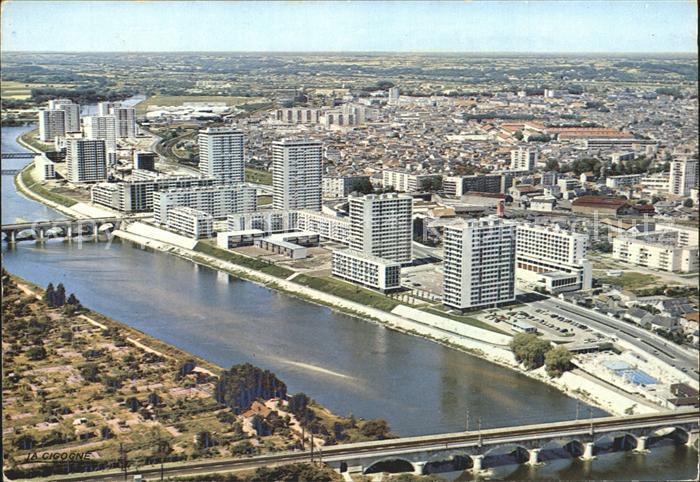 Tours Indre et Loire Les bords du Cher Vue aerienne Kat. Tours
