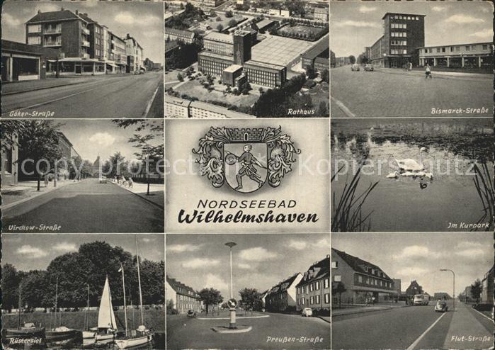 Wilhelmshaven Bismarck Strasse Kurpark Virchow Strasse Preussen Strasse Kat. Wilhelmshaven