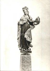 Berlin St. Hedwig Kathedrale Figur der Heiligen Hedwig Kat. Berlin