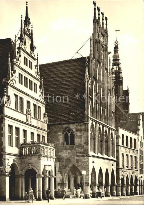 Muenster Westfalen Stadtweinhaus Rathaus Kat. Muenster