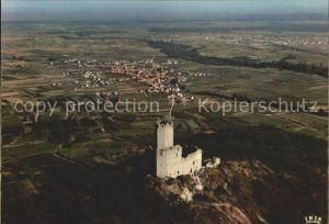 Scherwiller Chateau d Ortenberg et la plaine d Alsace Vue aerienne Kat. Scherwiller