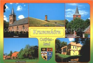 Krummhoern Woquard Pilsum Pewsum Ostfr Bauernhaus Manninga Burg Kat. Krummhoern