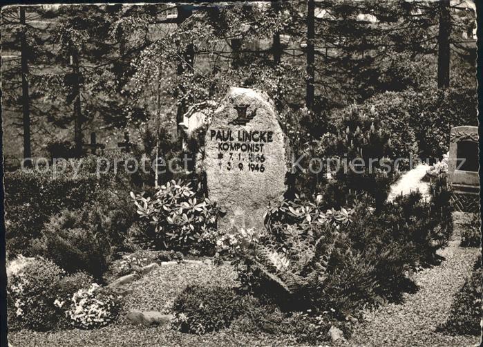 Hahnenklee Bockswiese Harz Paul Lincke Grab Kat Goslar Nr Kg19250