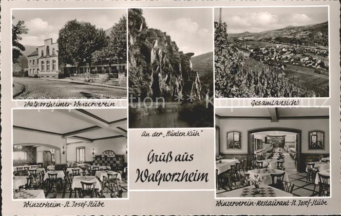 Walporzheim Gesamtansicht Winzerverein An der Bunten Kuh Kat. Bad Neuenahr Ahrweiler