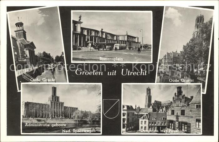 Utrecht Oude Gracht Stationsplein Kat. Utrecht