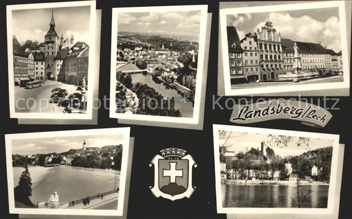 Landsberg Lech Tor Wappen Kat. Landsberg am Lech