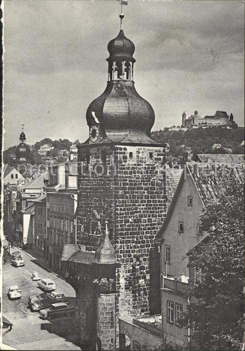 Coburg Judenturm mit Veste  Kat. Coburg