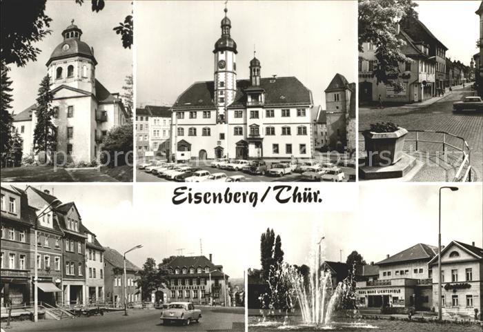 Eisenberg Thueringen Schlosskirche Rathaus am Markt Ernst Thaelmann Platz Kat. Eisenberg