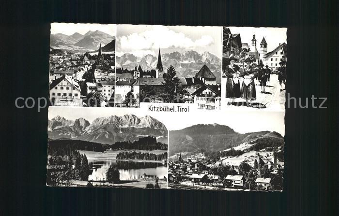 Kitzbuehel Tirol Schwarzsee gegen Sueden gegen Kaiser Kat. Kitzbuehel