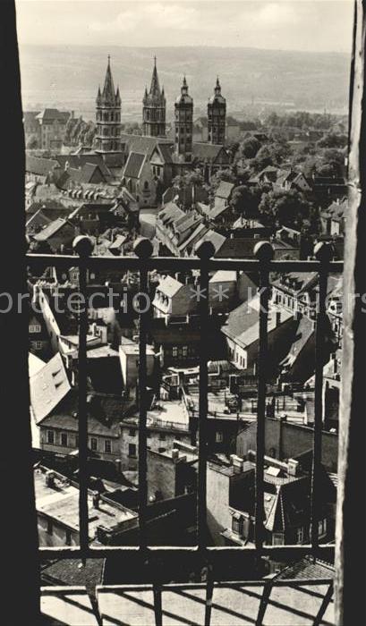 Naumburg Saale Blick vom Stadtturm auf den Dom Kat. Naumburg