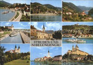 Grein Donau Oberoesterreich mit Sttruden St Nikola Persenbeu Ybbs Marbach Maria Taferl Poechlarn Stift Melk Kat. Grein