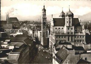 Augsburg Maximilianstr mit Rathaus und Perlach Kat. Augsburg