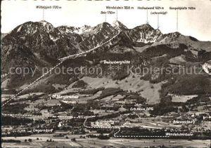 Degerndorf Inn mit Brannenburg St Margarethen Breitenberghuette Alpenpanorama Kat. Brannenburg