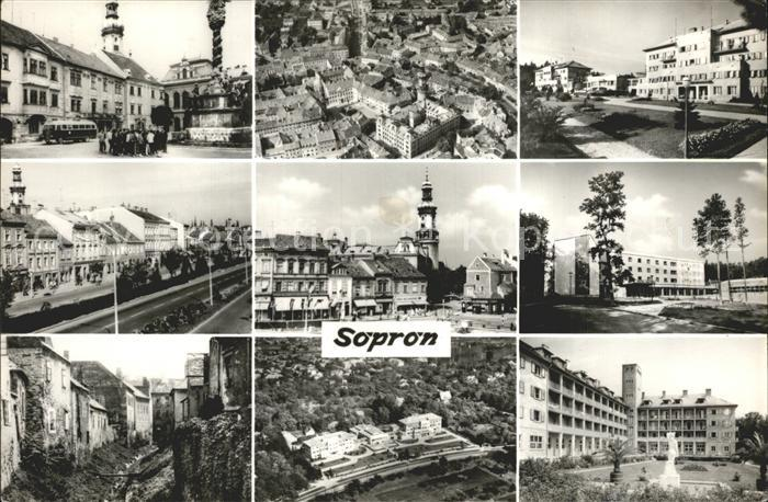 Sopron Orts und Teilansichten Fliegeraufnahmen