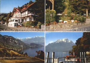 Vitznau Hotel Restaurant Seefels am Vierwaldstaettersee Alpenpanorama Kat. Vitznau