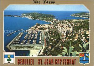 Saint Jean Cap Ferrat Vue aerienne Cote d Azur Kat. Saint Jean Cap Ferrat
