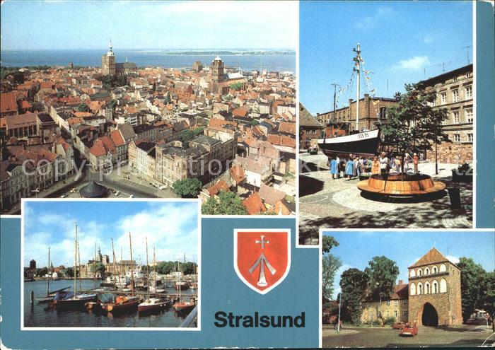 Stralsund Mecklenburg Vorpommern Meeresmuseum Hafen Kniepertor  Kat. Stralsund